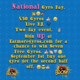 2014 National Gyro Day Giveaway & Event!